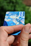 Credit Card. Blue Visa Electron Credit Card Royalty Free Stock Images