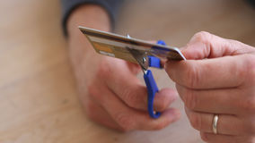Credit card brocken Royalty Free Stock Images