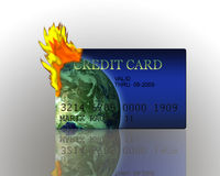 Credit Card Burning Royalty Free Stock Photo