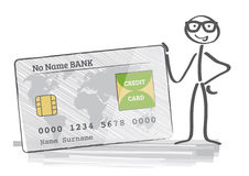 Credit card. Businessman holding a credit card Stock Photos