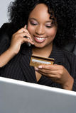 Credit Card Businesswoman Stock Photography