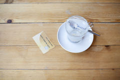 Credit card in cafe Royalty Free Stock Photography