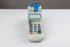 Credit Card With A Card Reader Stock Photography