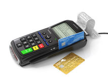 Credit card and card reader machine Royalty Free Stock Photo