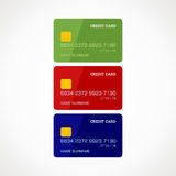 Credit card. S in three colors: green, red, blue Royalty Free Stock Photo