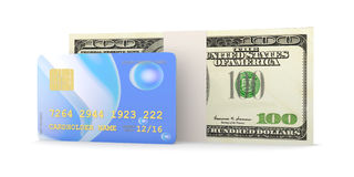 Credit Card and Cash Stock Image