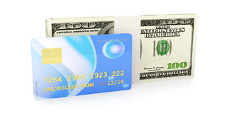 Credit Card and Cash Stock Photo
