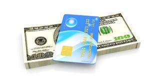 Credit Card and Cash Stock Photos