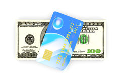 Credit Card and Cash Royalty Free Stock Photos