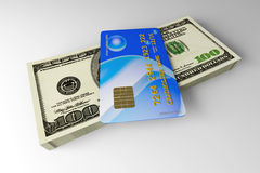 Credit Card and Cash Stock Photos