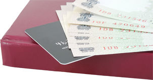 Credit card cash advance. Concept of the money taken as a cash advance from a credit card Royalty Free Stock Photography