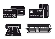 Credit card and cash Stock Photography