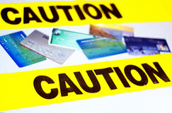 Credit Card Caution Royalty Free Stock Image