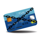 Credit card in chains Royalty Free Stock Photo