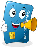 Credit Card Character with Megaphone Royalty Free Stock Photography