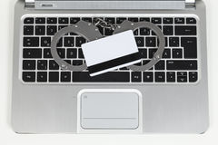 Credit card cheater Royalty Free Stock Images