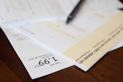 Credit card cheque. Debt consolidation and balance transfer cheques Royalty Free Stock Images