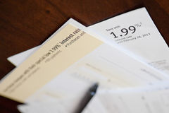 Credit card cheque. Debt consolidation and balance transfer cheques Stock Image