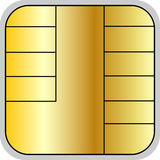 Credit card chip Royalty Free Stock Photos