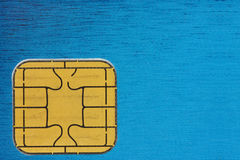 Credit card chip Stock Photo