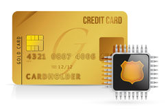Credit Card chip Royalty Free Stock Photography
