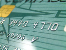Credit card with chip. Close up of Credit card with chip Royalty Free Stock Photography