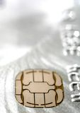 Credit card chip Royalty Free Stock Images