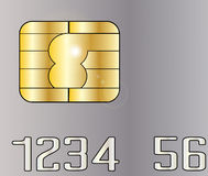 Credit Card Chip Royalty Free Stock Photo