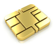 Credit Card Chip. This is a computer generated and 3d rendered image stock illustration