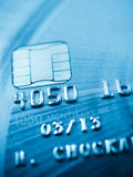 Credit card and chip macro Royalty Free Stock Photography