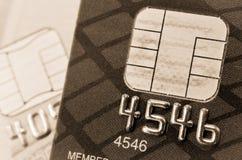 Credit card and chip macro Stock Photo