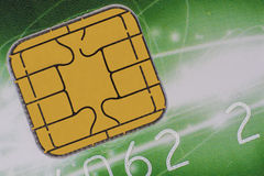 Credit card chip Stock Images