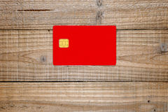 Credit card with chip Royalty Free Stock Photos