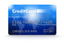 Credit Card (clipping path included) Royalty Free Stock Images