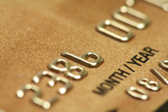 Credit card close up Stock Image