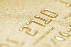 Credit card close up Stock Images