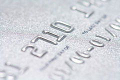 Credit card close up Stock Photography