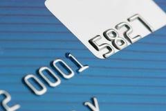Credit card close-up Stock Image