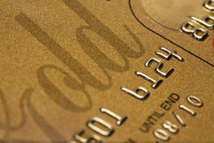 Credit Card Close-Up Stock Photography