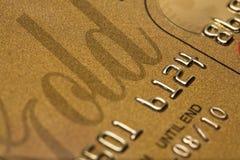 Credit Card Close-Up. Gold credit card close-up detail Stock Photography