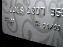 Credit card (closeup) Royalty Free Stock Images
