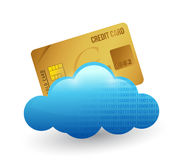 Credit card and cloud. illustration design Stock Photo
