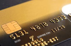 Credit Card Code. Close up of credit card Stock Images