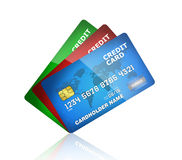 Credit card collection Royalty Free Stock Images