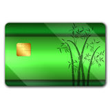 Credit card with colorful oranaments Stock Photos