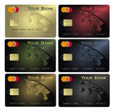 Credit card Colors Royalty Free Stock Photo