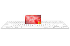 Credit card with computer keyboard Stock Photos