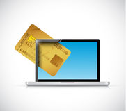 Credit card computer laptop business concept. Stock Image
