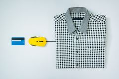 Credit card computer mouse online shopping concept isolated whit. E stock photo