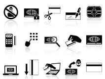 Credit card concept icons set Royalty Free Stock Images